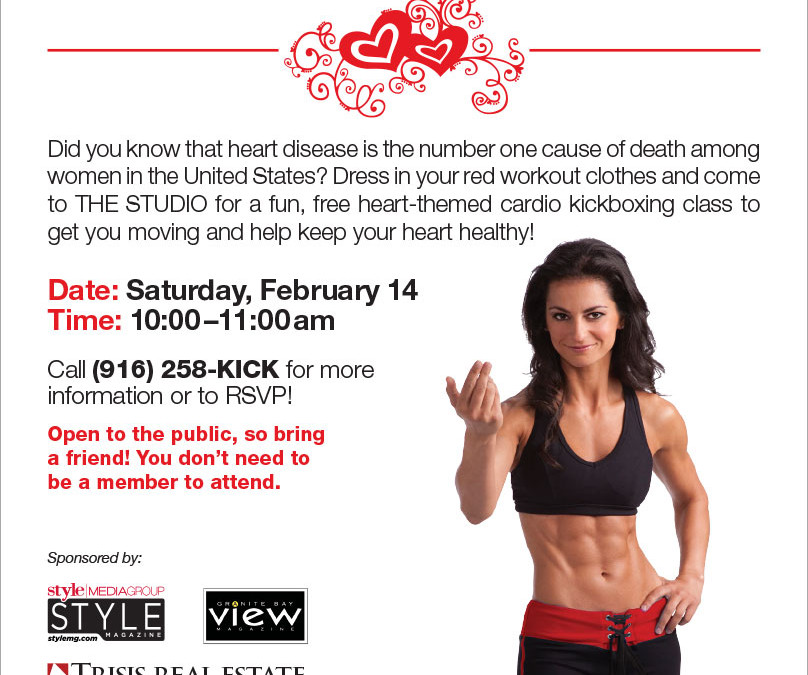 February 14: FREE Cardio Kickboxing Heart Health Event