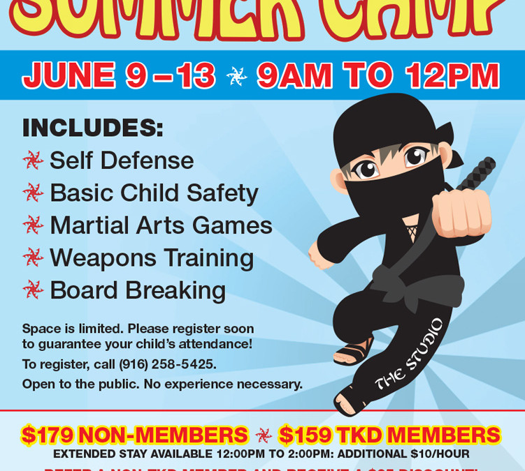 Martial Arts Summer Camp at THE STUDIO, June 9 to 13