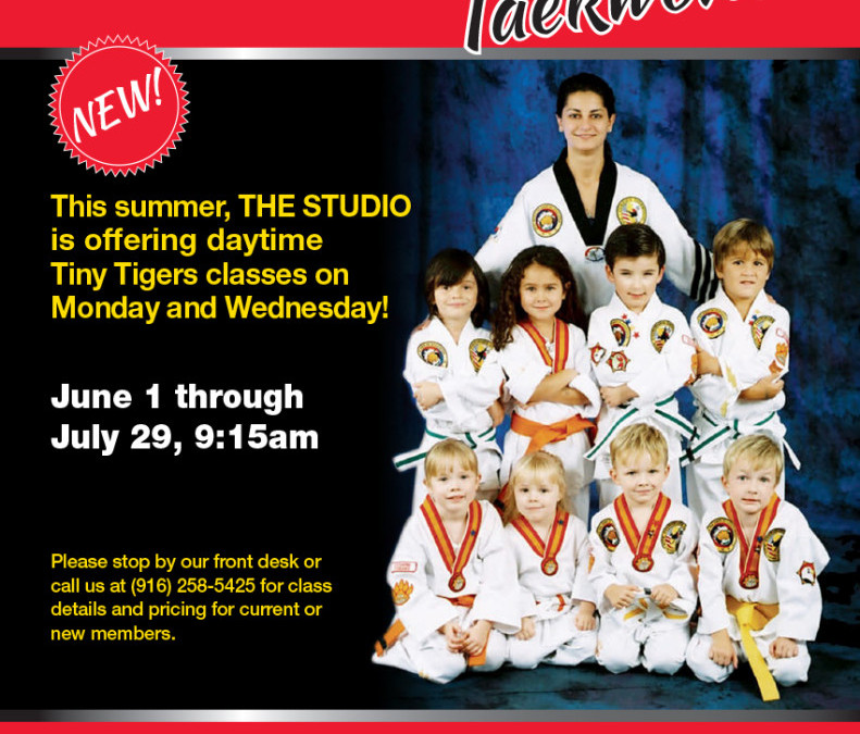 June 1–July 29: Daytime Tiny Tigers Classes (9:15am)
