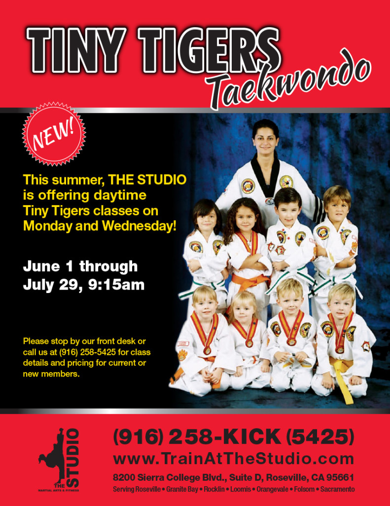 June 1 July 29 Daytime Tiny Tigers Classes 9 15am The