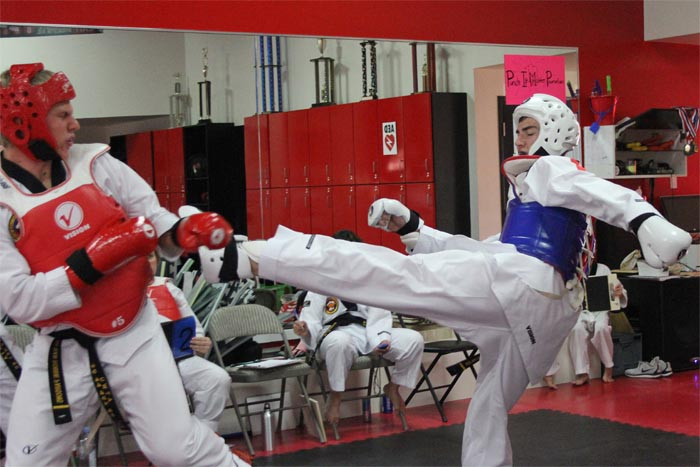 fight night taekwondo sparring