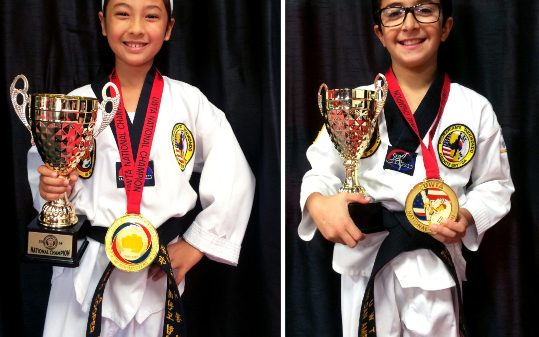 Two Students from THE STUDIO Bring Home National Taekwondo Champion Title