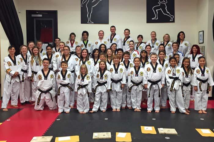 pourarian's taekwondo black belt class oct 2015