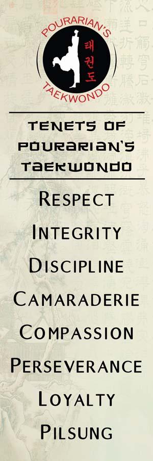 pourarian taekwondo tenets