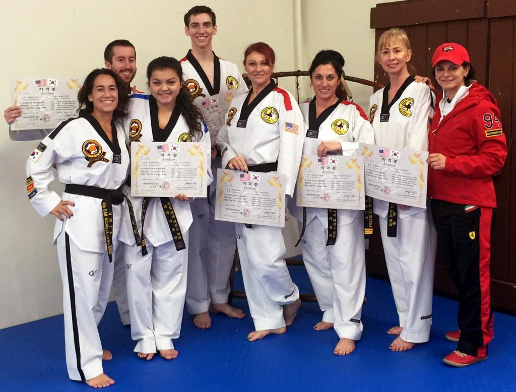 UWTA certified taekwondo instructors