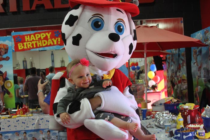 Paw Patrol party mascot