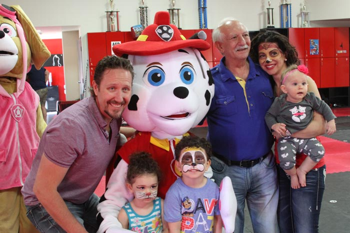 Paw Patrol party with costumed characters