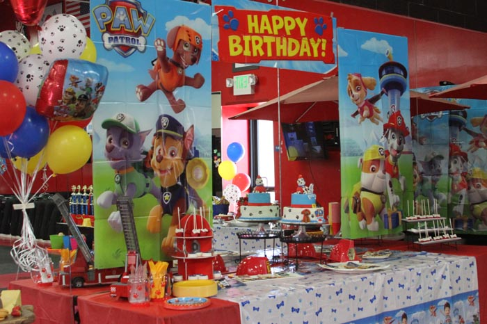 Paw Patrol birthday party at THE STUDIO