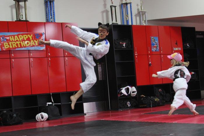 martial arts party roseville demo team