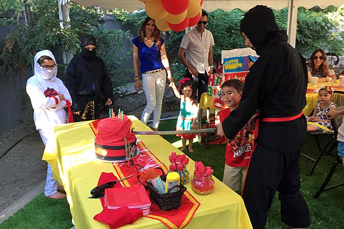 kids ninja birthday cake