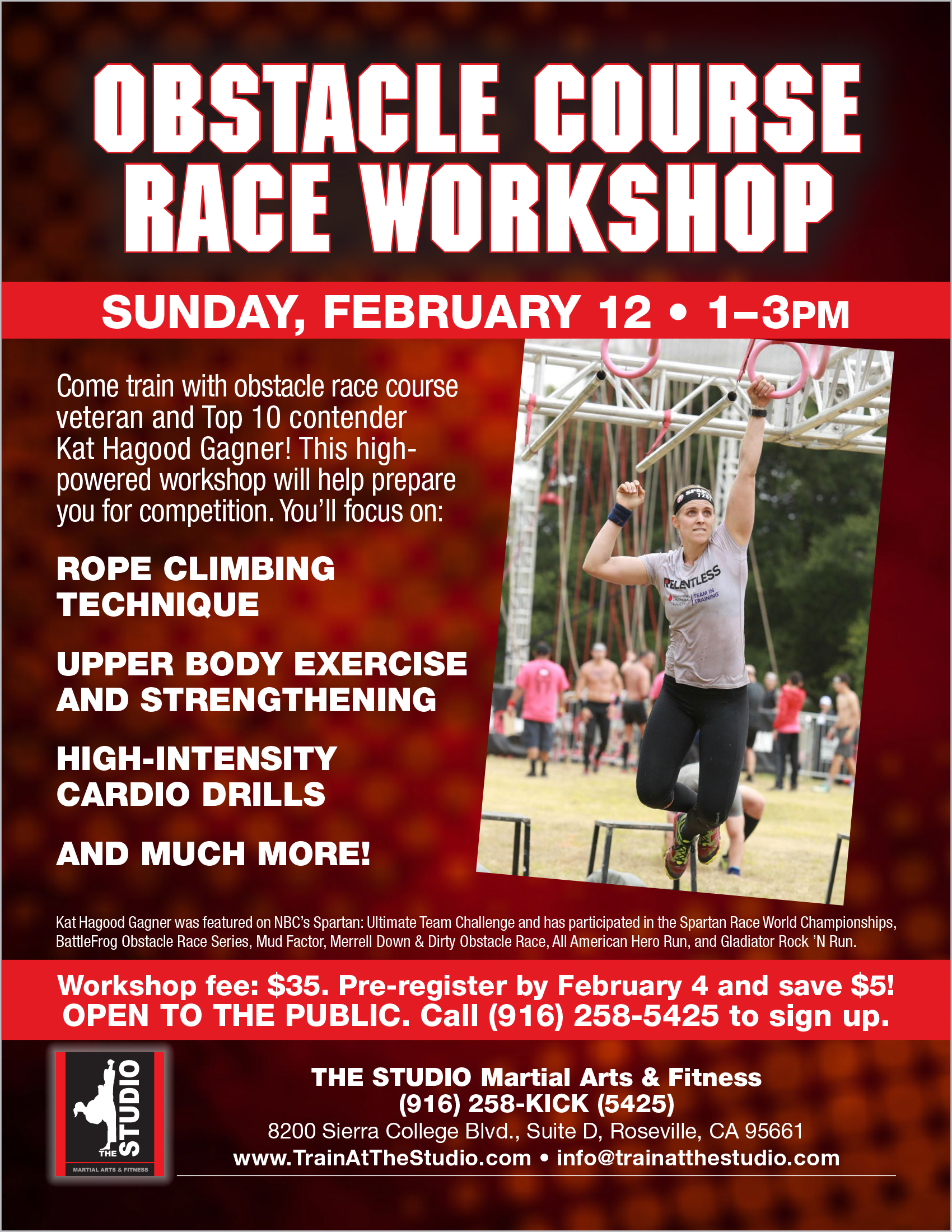 Feb 12 Obstacle Course Race Workshop The Studio