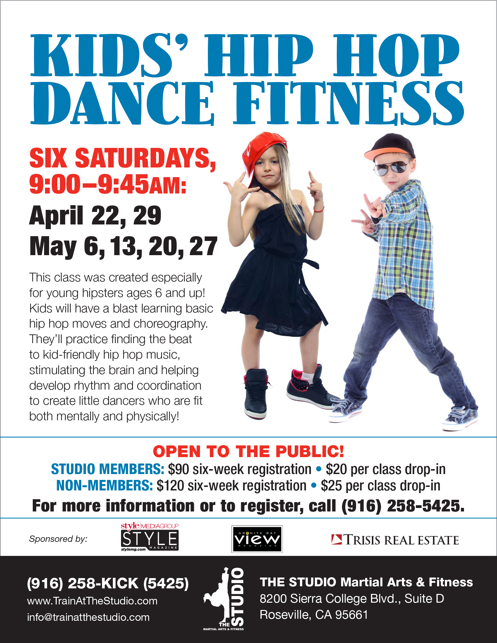 April 22 Kids Hip Hop Dance Fitness Begins The Studio