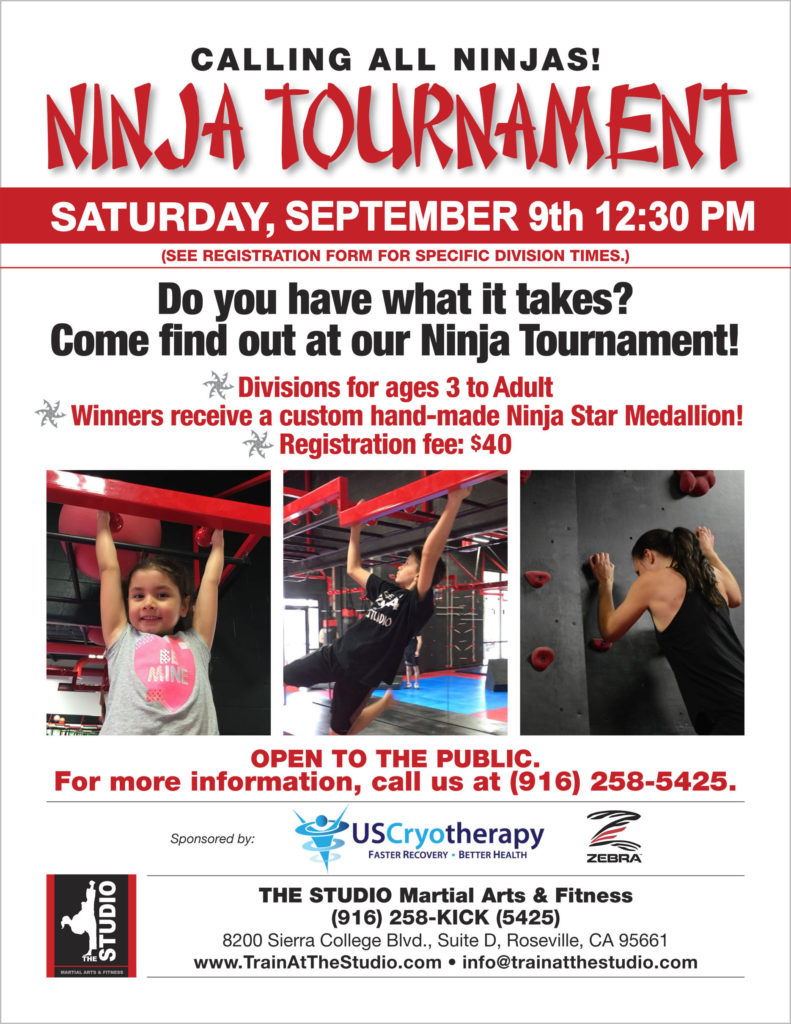 ninja tournament september 2017