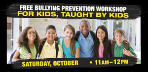 Oct. 21: FREE Workshop for Bullying Prevention Month