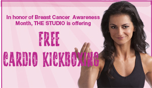 Oct. 12: Free Cardio Kickboxing for Breast Cancer Awareness