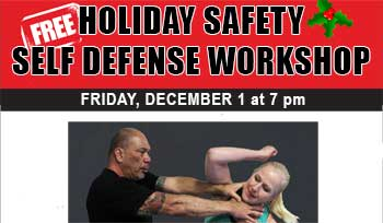 Dec. 1: Free Holiday Self Defense Workshop