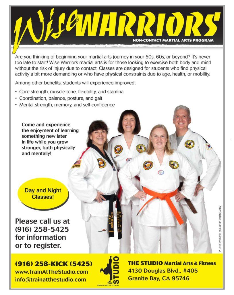 martial arts for seniors roseville