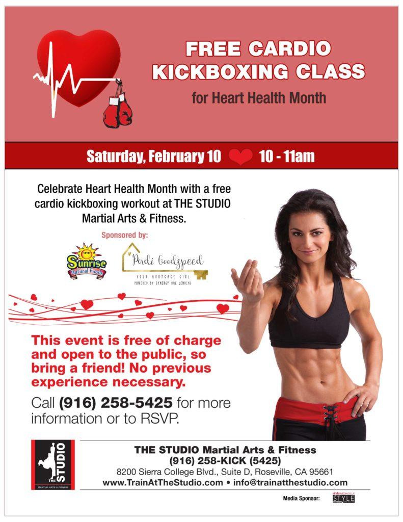 free cardio kickboxing class feb 2018
