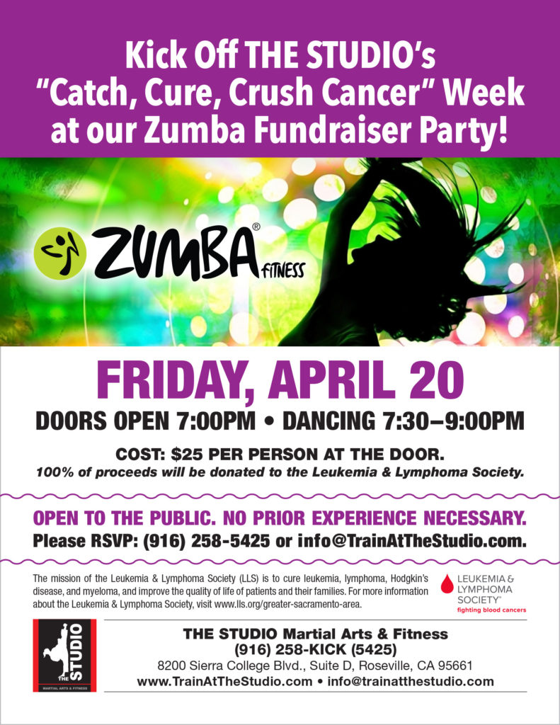 April 20: Zumba Fundraiser | THE STUDIO Martial Arts & Fitness