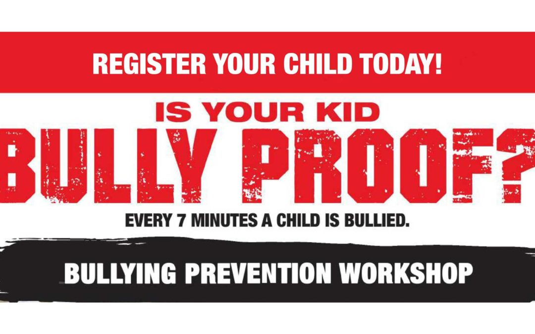 Oct 12: Bully Prevention Workshop