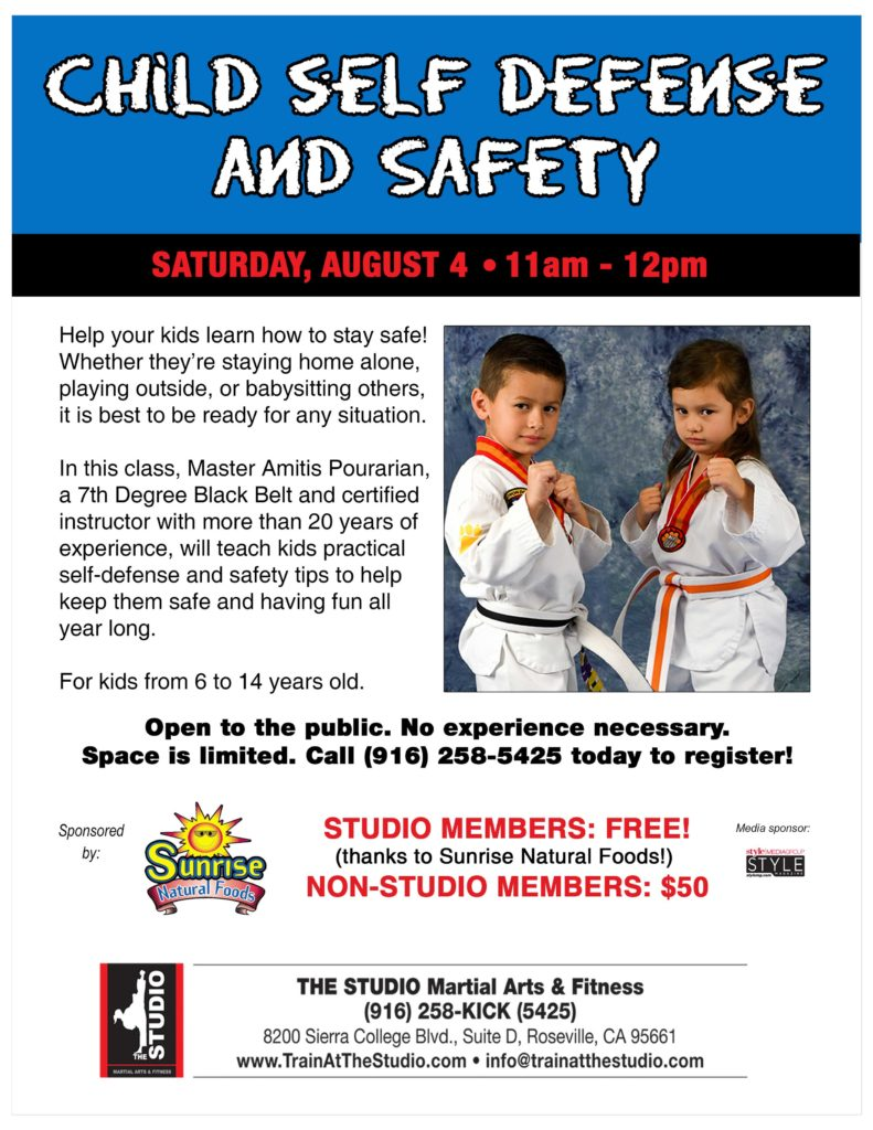 child self defense workshop