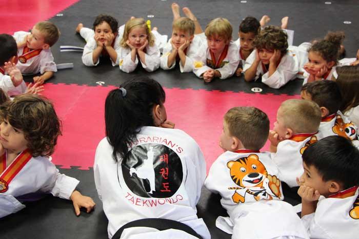 preschool martial arts circle