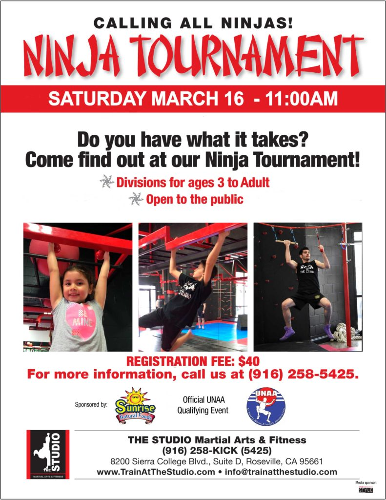 sacramento area ninja tournament march 2019