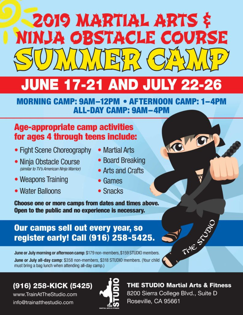 2019 martial arts summer camp roseville kids camp