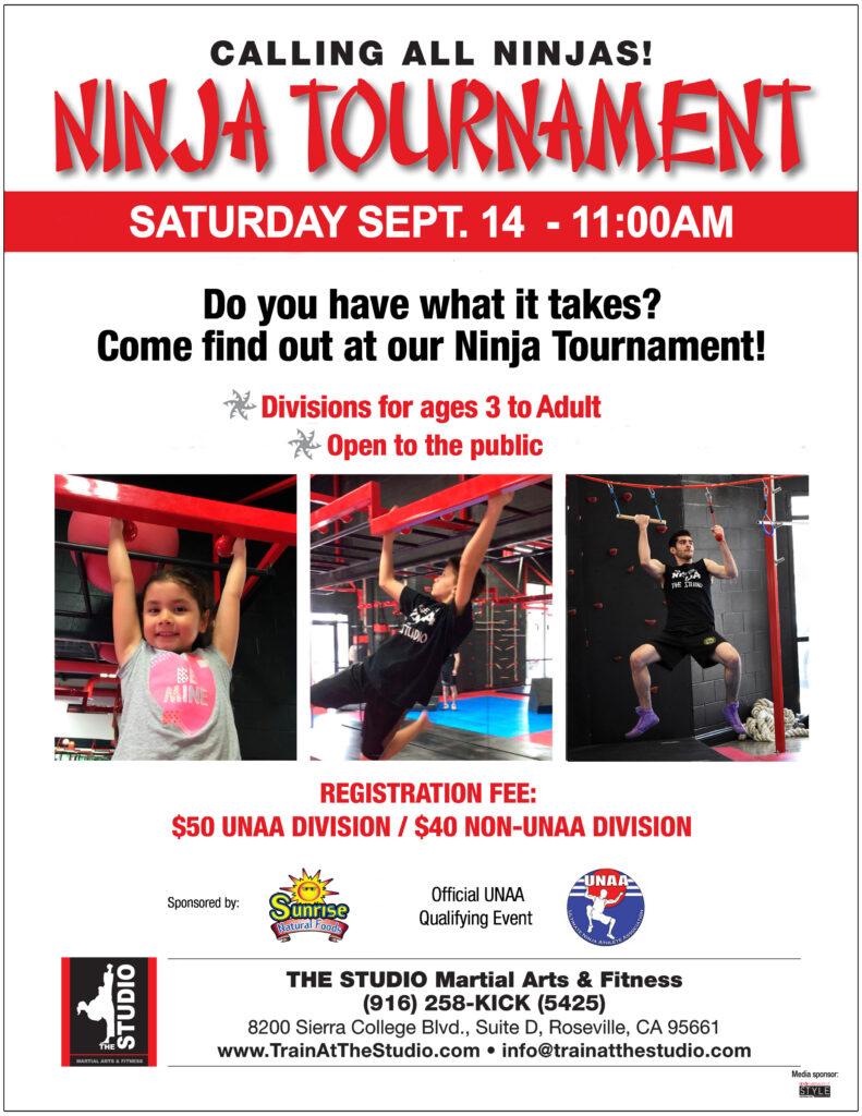 unaa ninja tournament roseville sept 2019